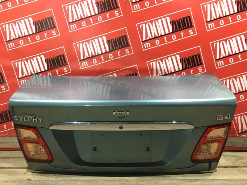 Крышка багажника Nissan Bluebird Sylphy QG10 QG18DE 2000 задняя бирюзовый 48-80