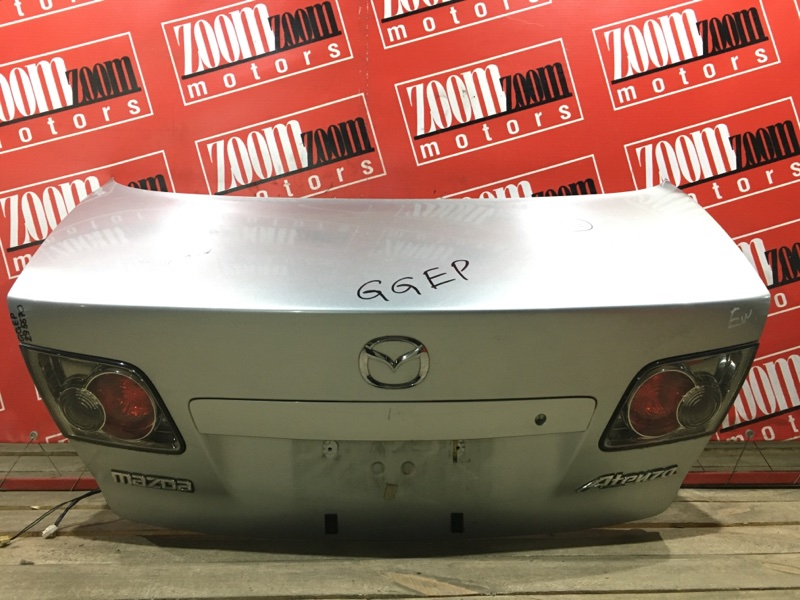 Крышка багажника Mazda Atenza GGEP L3-DE 2002 задняя серебро 226-61980