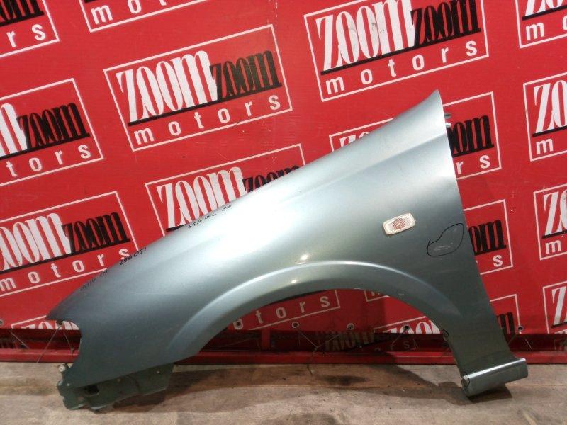 Крыло Nissan Bluebird Sylphy QG10 QG18DE 2000 переднее левое бирюзовый