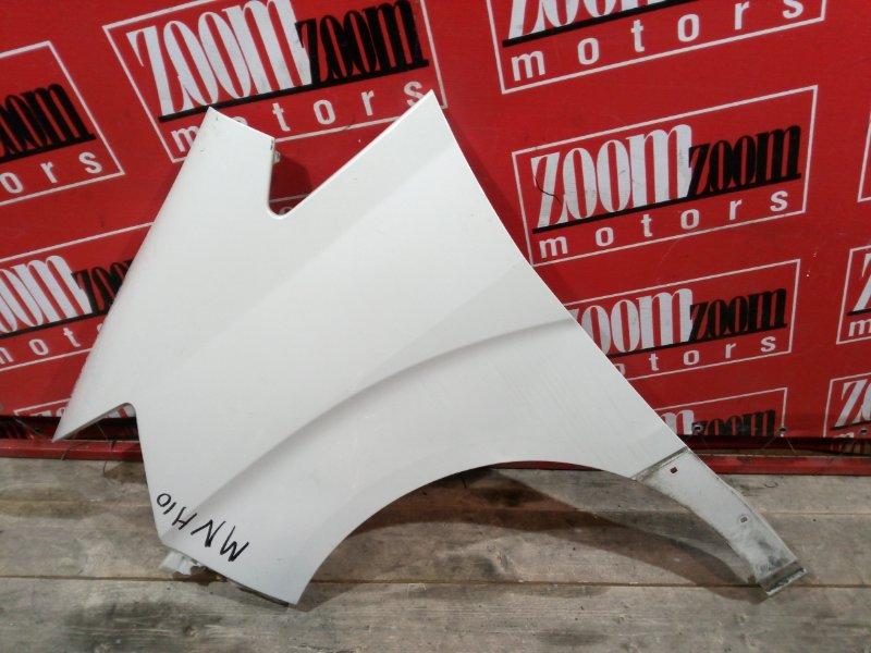 Крыло Toyota Alphard MNH10 1MZ-FE 2002 переднее левое белый перламутр