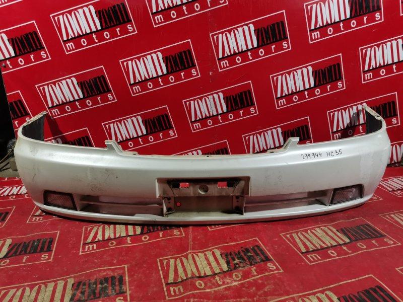 Бампер Nissan Laurel HC35 RB20DE 1997 передний белый перламутр