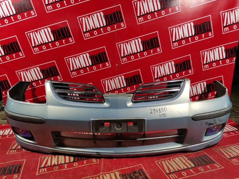 Бампер Nissan Tino V10 QG18DE 1998 передний голубой