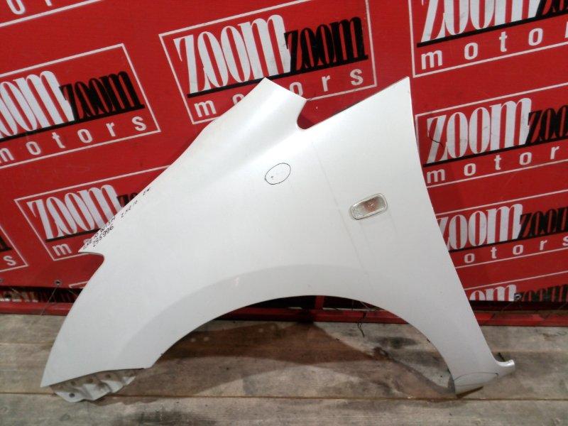 Крыло Toyota Wish ZNE10 1ZZ-FE 2003 переднее левое белый перламутр