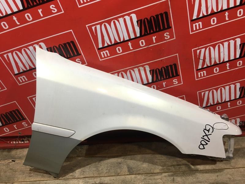 Крыло Toyota Cresta GX100 1G-FE 1996 переднее правое белый перламутр