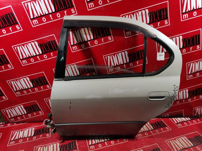 Дверь боковая Toyota Camry SV40 4S-FE 1994 задняя левая белый перламутр