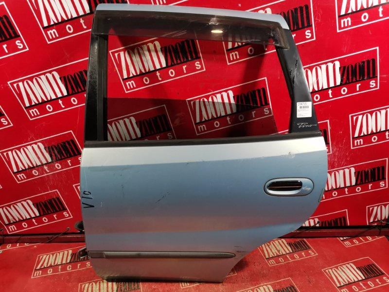Дверь боковая Nissan Tino V10 QG18DE 1998 задняя левая голубой