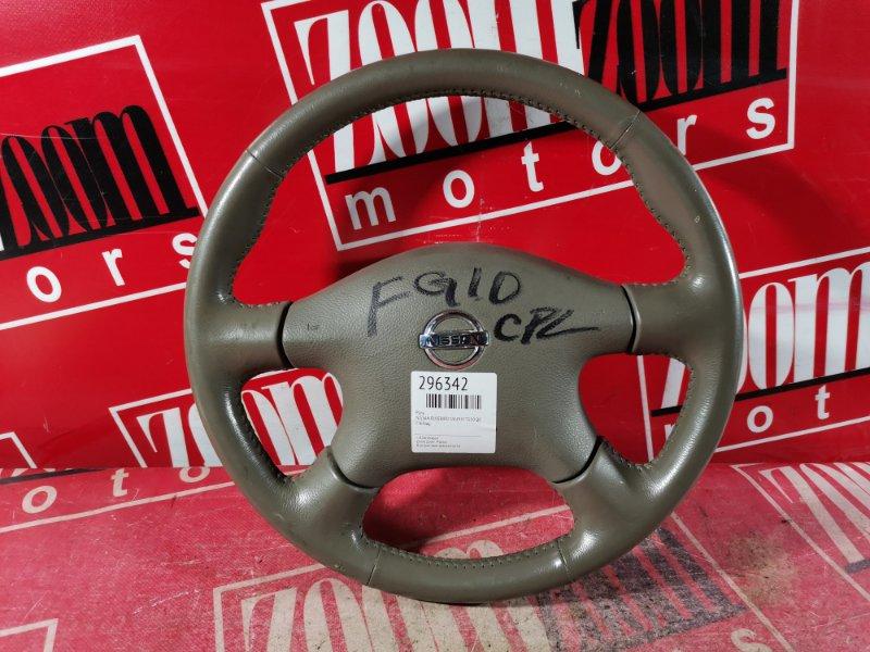 Руль Nissan Bluebird Sylphy TG10 QG18DE 2004 коричневый