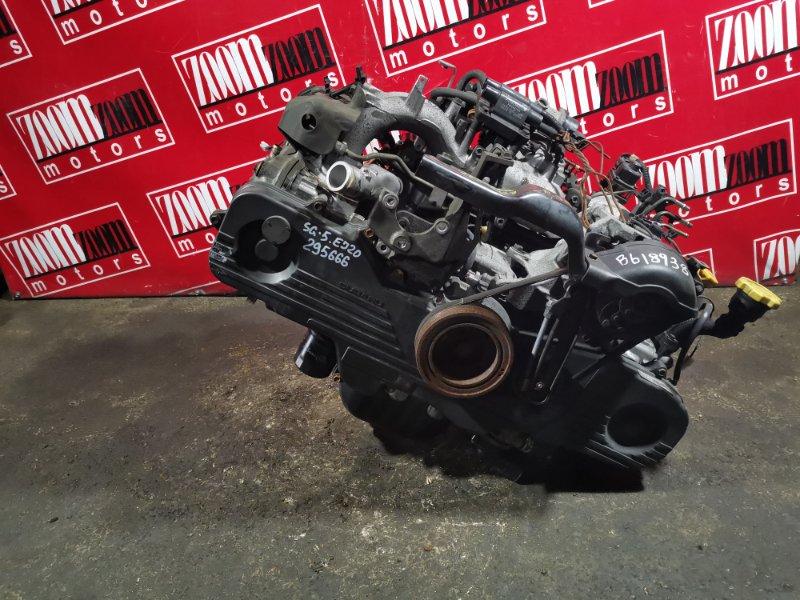 Двигатель Subaru Forester SG5 EJ20 2002 B618938