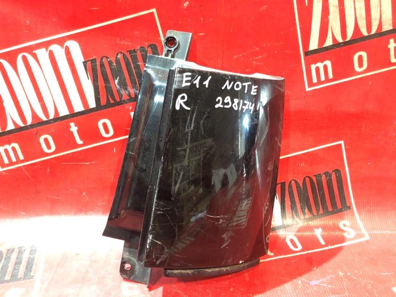 Планка под фонарь Nissan Note E11 HR15DE 2004 задняя правая черный