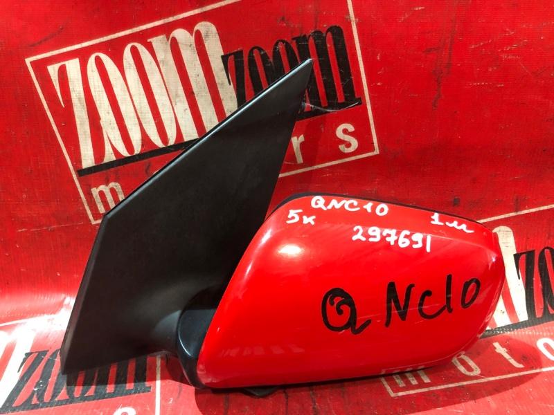 Зеркало боковое Toyota Passo QNC10 K3-VE 2004 переднее левое красный