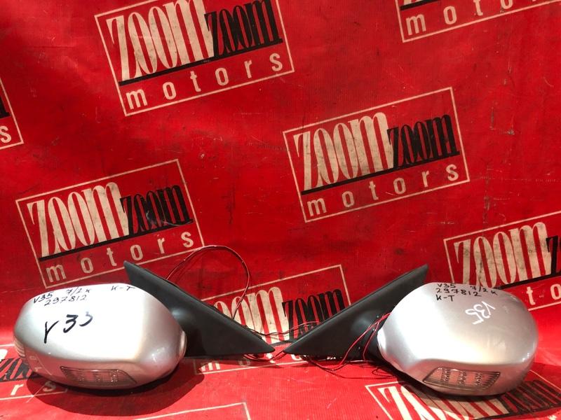 Зеркало боковое Nissan Skyline V35 VQ25DD 2001 переднее серебро