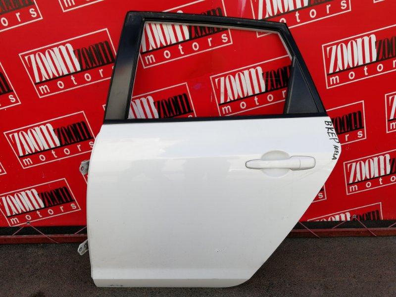 Дверь боковая Mazda Axela BKEP LF-DE 2003 задняя левая белый перламутр
