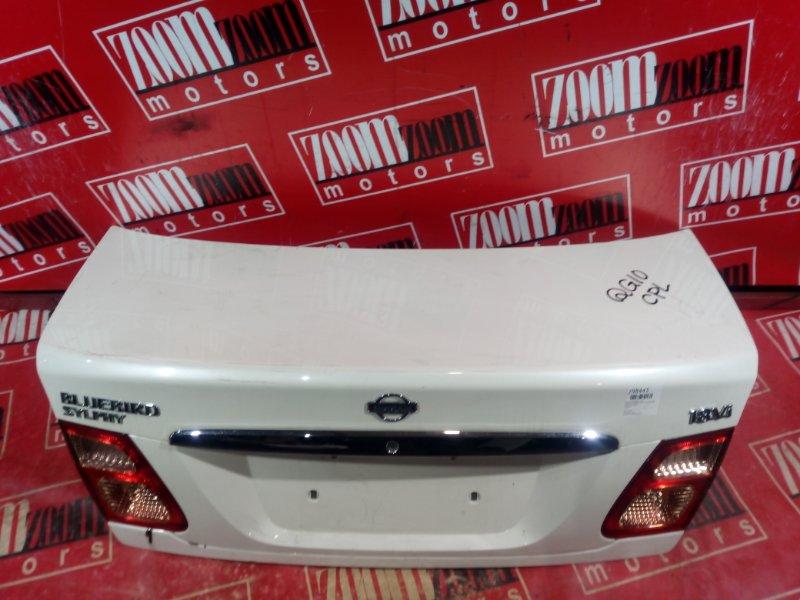 Крышка багажника Nissan Bluebird Sylphy TG10 QG18DE 2000 задняя белый перламутр