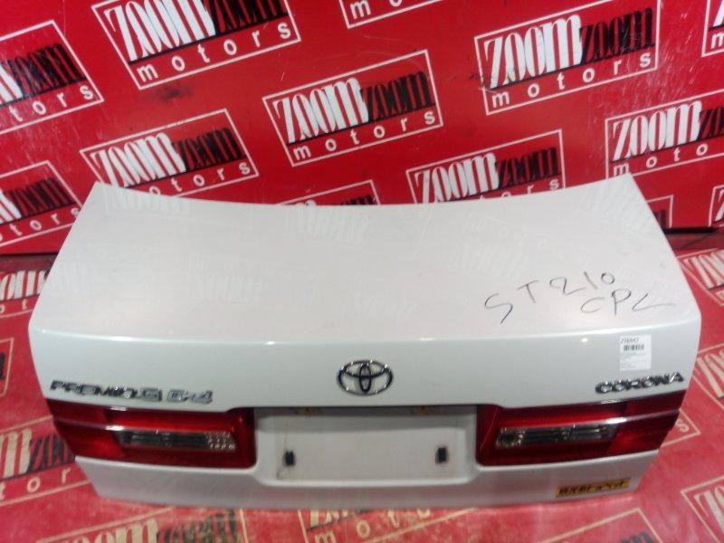 Крышка багажника Toyota Corona Premio AT210 7A-FE 2001 задняя белый перламутр