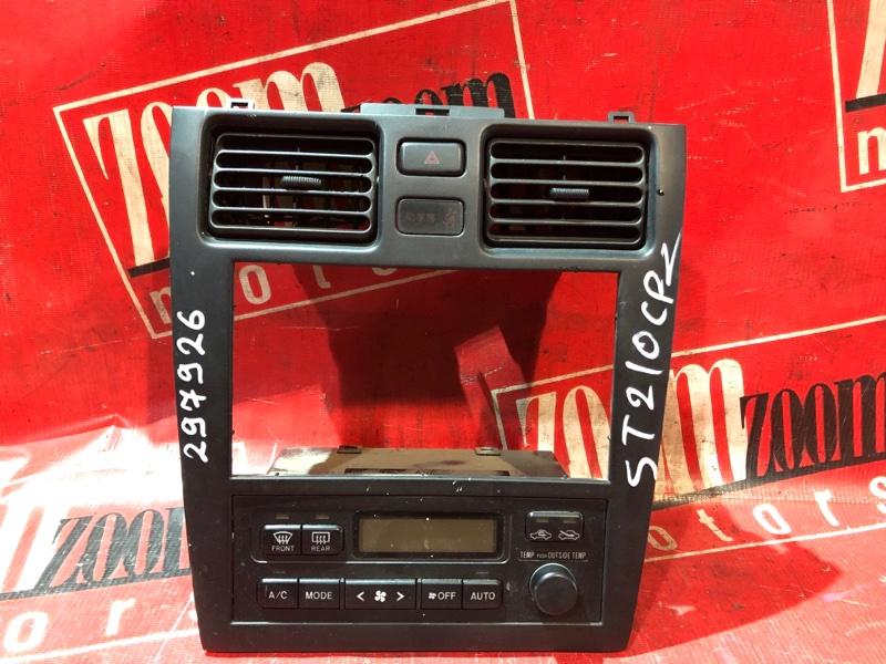Блок управления отоплением и вентиляцией Toyota Caldina ST210 3S-FE 1997 передний