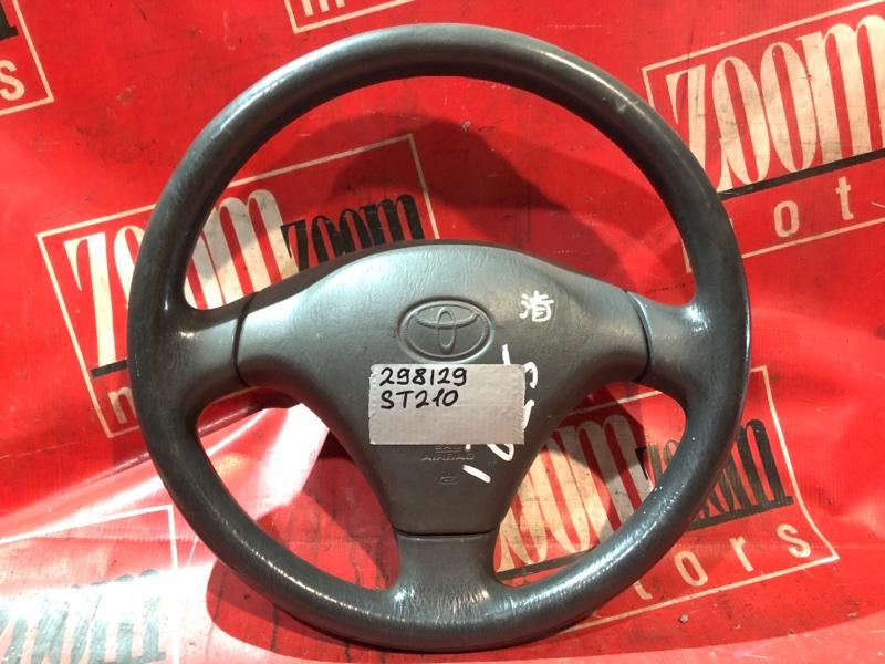 Руль Toyota Caldina ST210 3S-FE 1996 черный