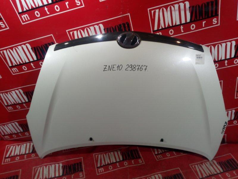 Капот Toyota Wish ZNE10 1ZZ-FE 2003 передний белый перламутр