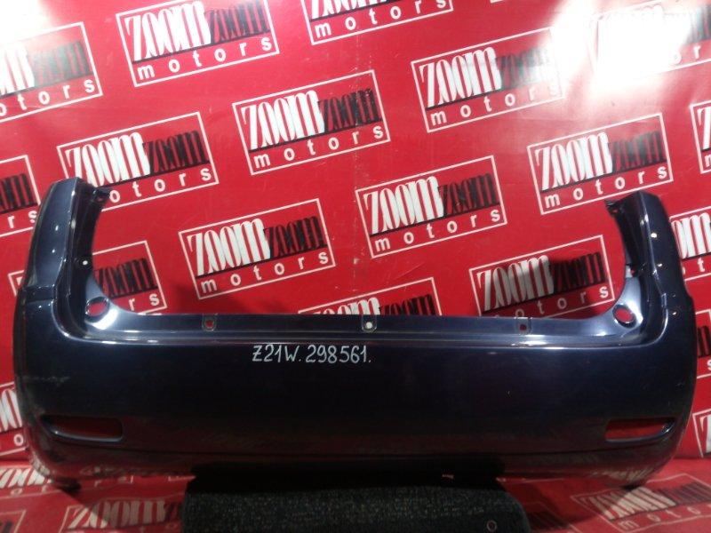 Бампер Mitsubishi Colt Plus Z21W 4A90 2004 задний синий