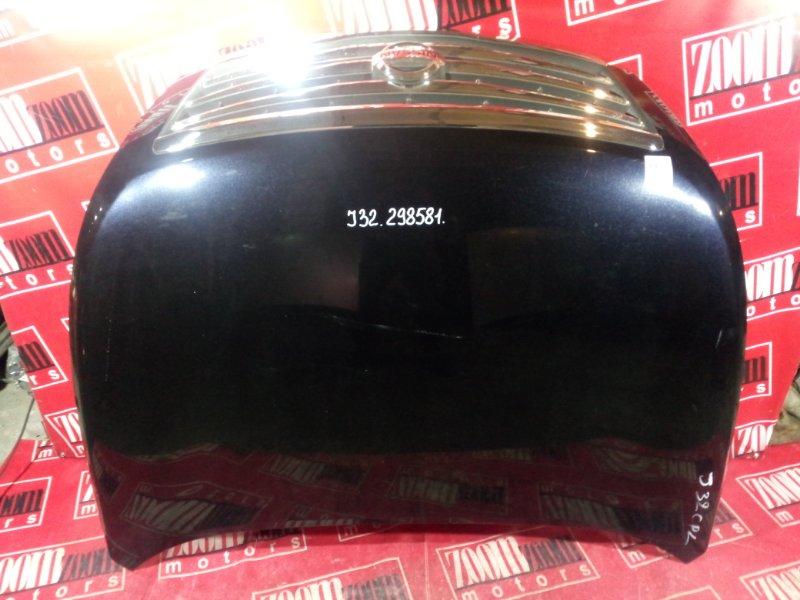 Капот Nissan Teana J32 VQ25DE 2005 передний черный