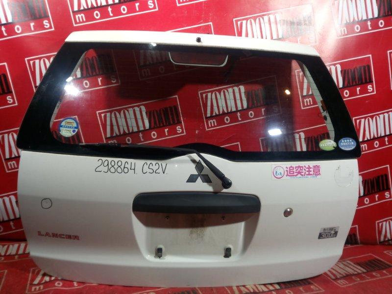 Дверь задняя багажника Mitsubishi Lancer Cedia CS2W 4G15 2000 задняя белый