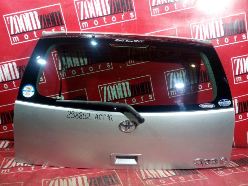 Дверь задняя багажника Toyota Opa ZCT10 1ZZ-FE 2001 задняя серо-золотой
