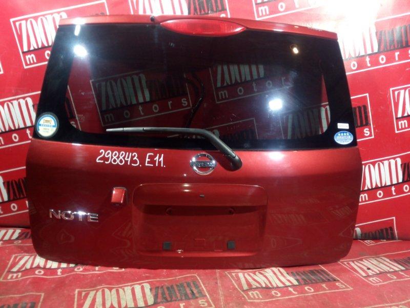 Дверь задняя багажника Nissan Note E11 HR15DE 2004 задняя вишневый