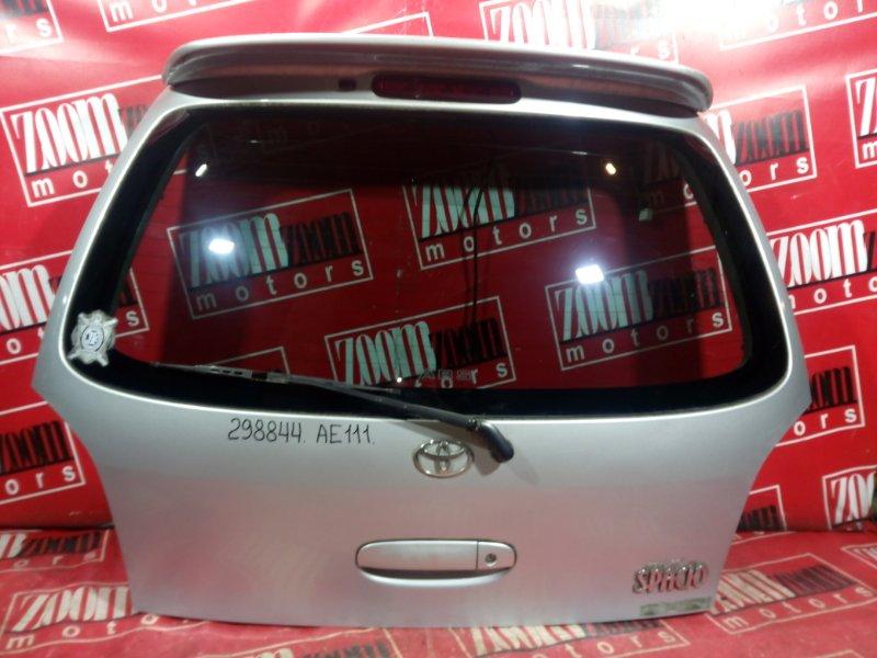 Дверь задняя багажника Toyota Corolla Spacio AE111 4A-FE 1995 задняя серебро