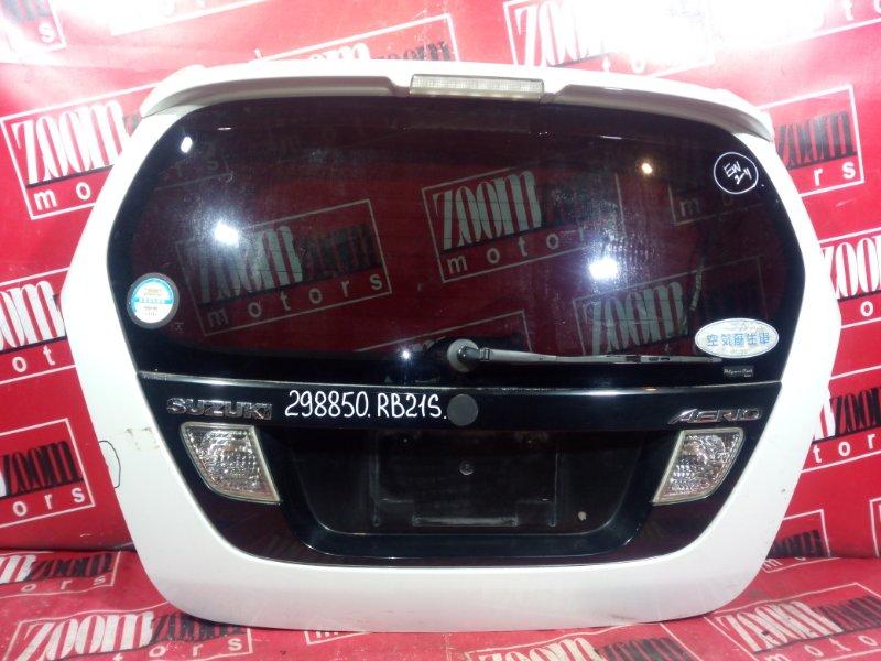 Дверь задняя багажника Suzuki Aerio RB21S M13A 2002 задняя белый перламутр