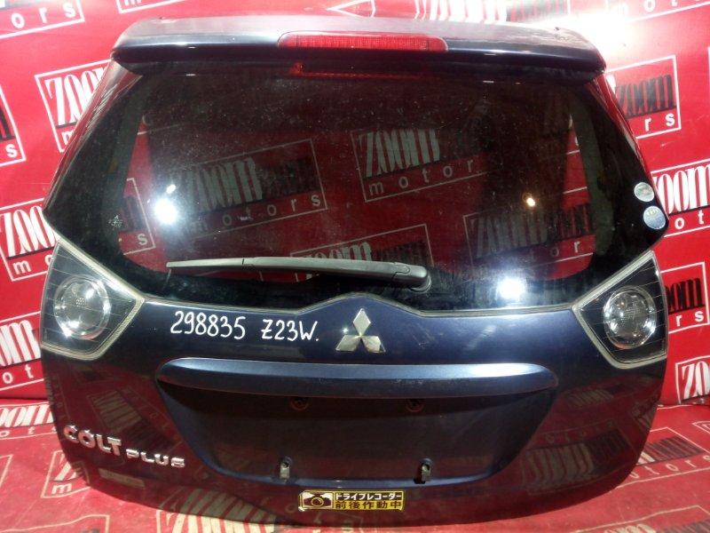 Дверь задняя багажника Mitsubishi Colt Plus Z21W 4A91 2002 задняя темно-серый