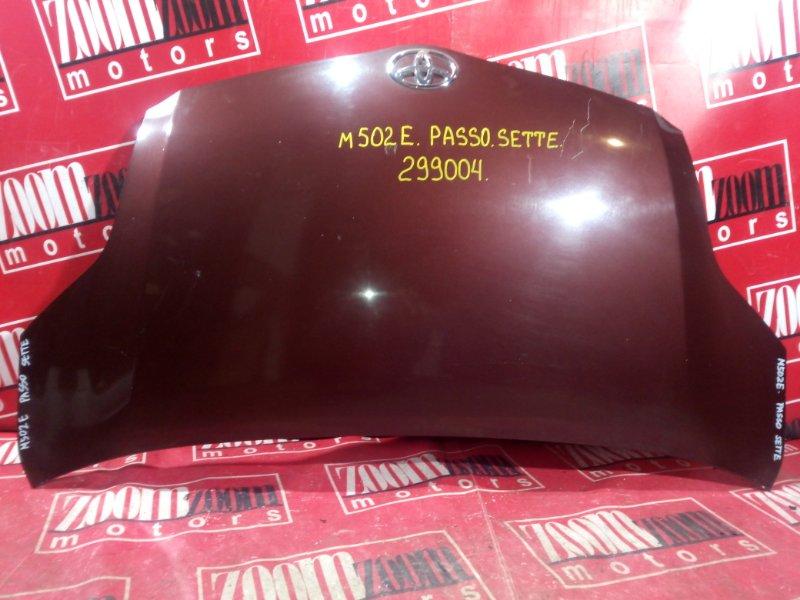 Капот Toyota Passo Sette M502E 3SZ-VE 2008 передний вишневый