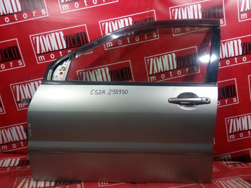 Дверь боковая Mitsubishi Lancer Cedia CS2A 4G15 2000 передняя левая серый