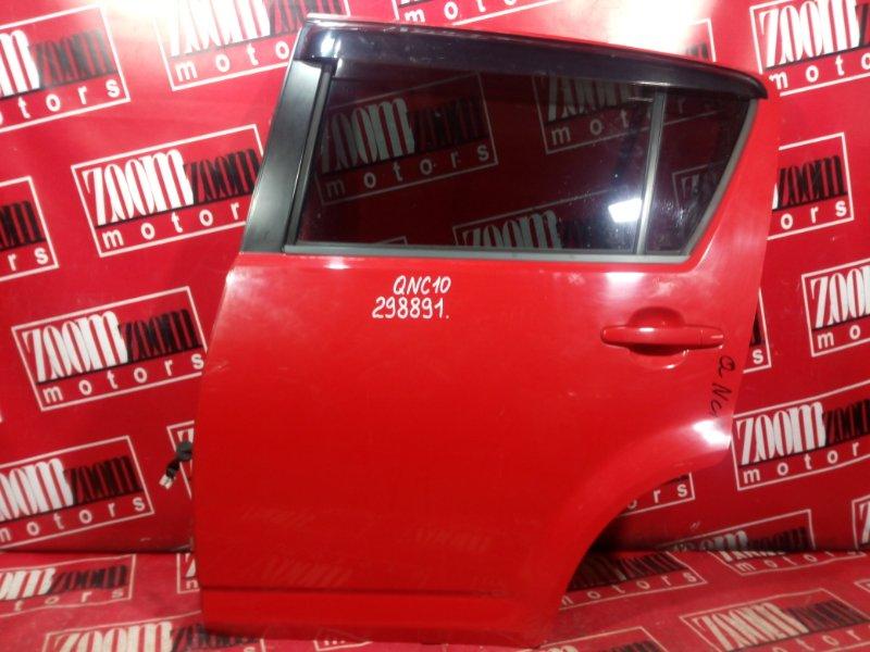 Дверь боковая Toyota Passo KGC10 1KR-FE 2003 задняя левая красный