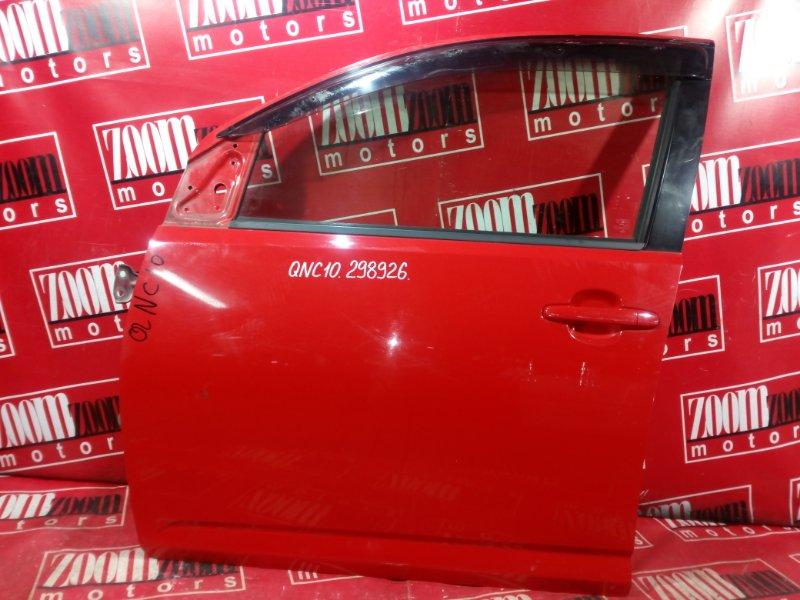 Дверь боковая Toyota Passo KGC10 1KR-FE 2003 передняя левая красный