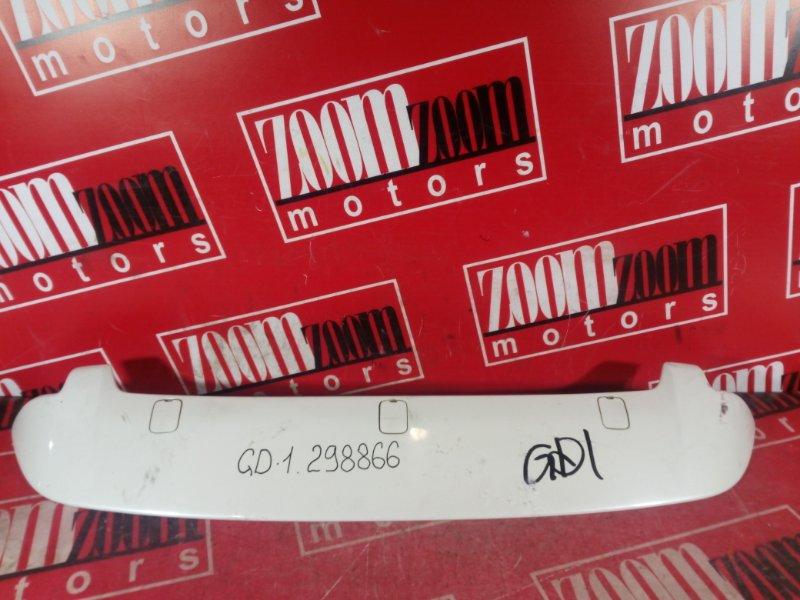 Спойлер Honda Fit GD1 L13A 2001 задний белый перламутр
