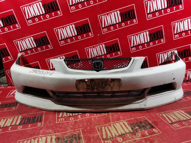 Бампер Honda Accord CF6 F23A 2000 передний белый