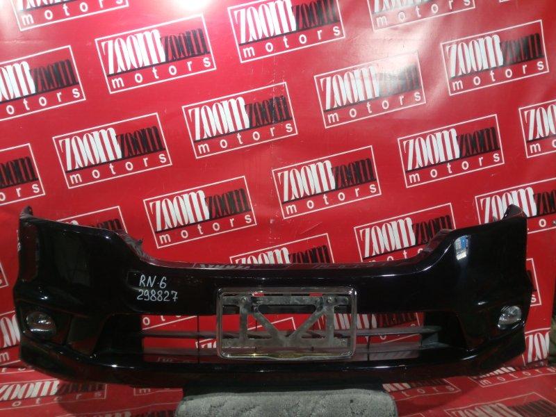 Бампер Honda Stream RN6 K20A 2006 передний черный