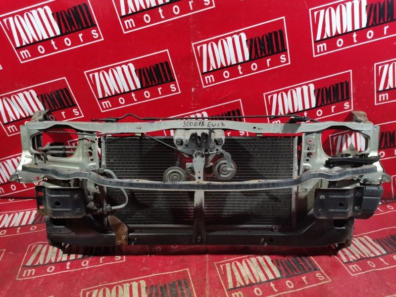 Рамка радиатора Nissan Bluebird EU13 SR18DE 1991 передняя серебро