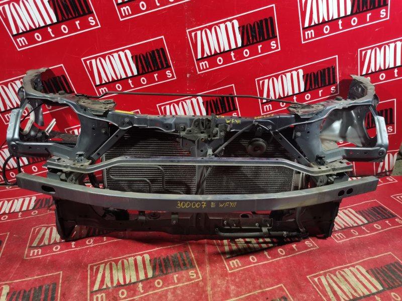 Рамка радиатора Nissan Wingroad WFY11 QG18DE 2001 передняя голубой