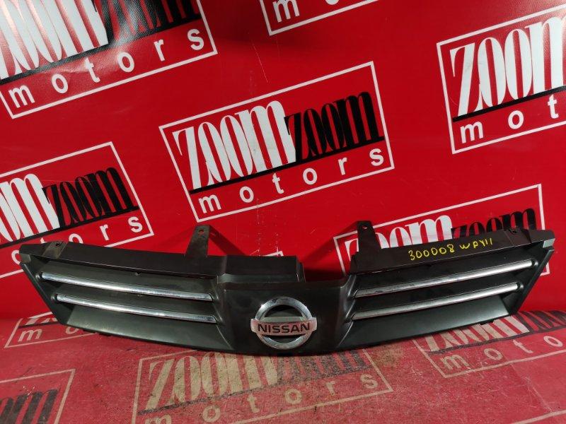 Решетка радиатора Nissan Wingroad WFY11 QG18DE 2001 передняя серый