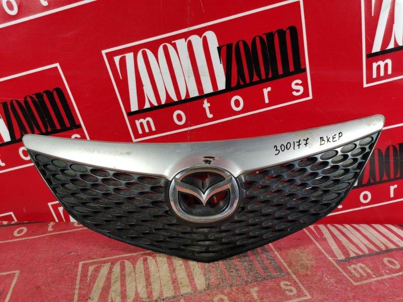 Решетка радиатора Mazda Axela BKEP LF-DE 2002 передняя серебро