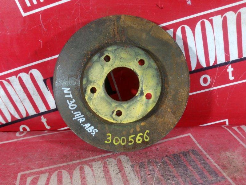 Диск тормозной Nissan X-Trail NT30 QR20DE `2001 передний