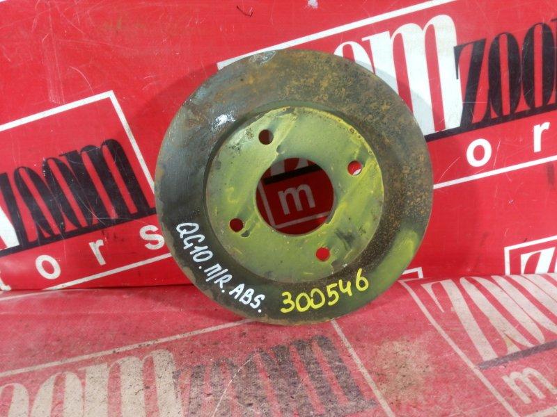 Диск тормозной Nissan Bluebird Sylphy QG10 QG18DE 1999 передний