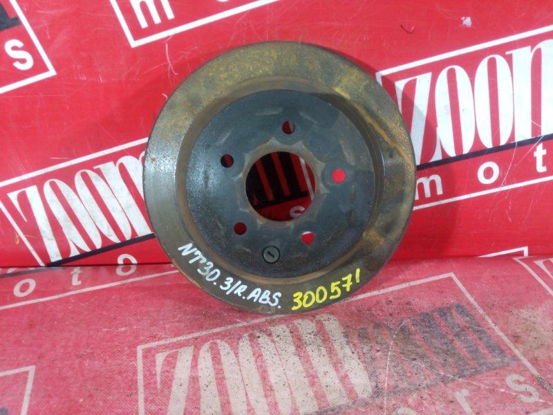 Диск тормозной Nissan X-Trail NT30 QR20DE `2001 задний