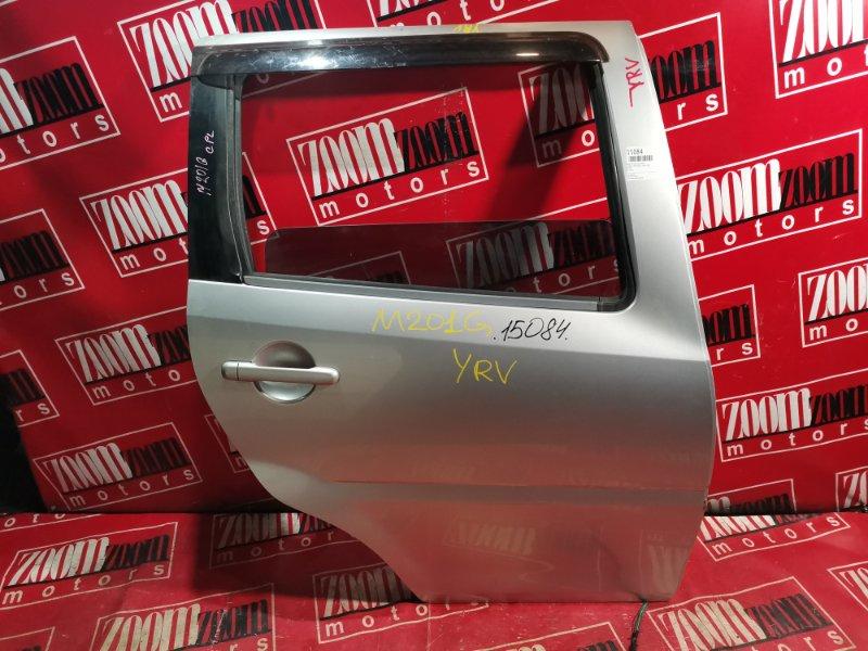 Дверь боковая Daihatsu Yrv M201G 2000 задняя правая серебро