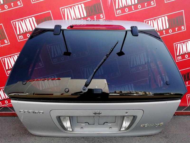 Дверь задняя багажника Nissan Cefiro WPA32 VQ25DE 1997 серебро