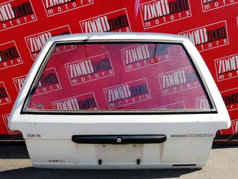 Дверь задняя багажника Toyota Corona CT176V 2C 1987 белый