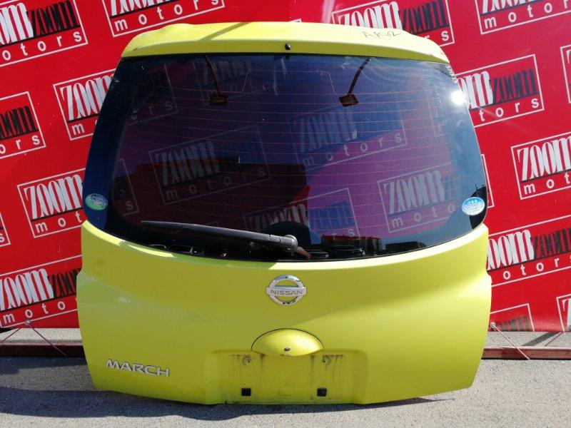 Дверь задняя багажника Nissan March AK12 CR12DE 2002 желтый