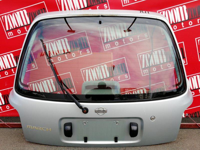 Дверь задняя багажника Nissan March K11 CG10DE 1992 задняя серебро
