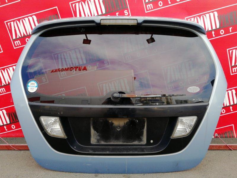 Дверь задняя багажника Suzuki Aerio RB21S M15A 2000 задняя голубой