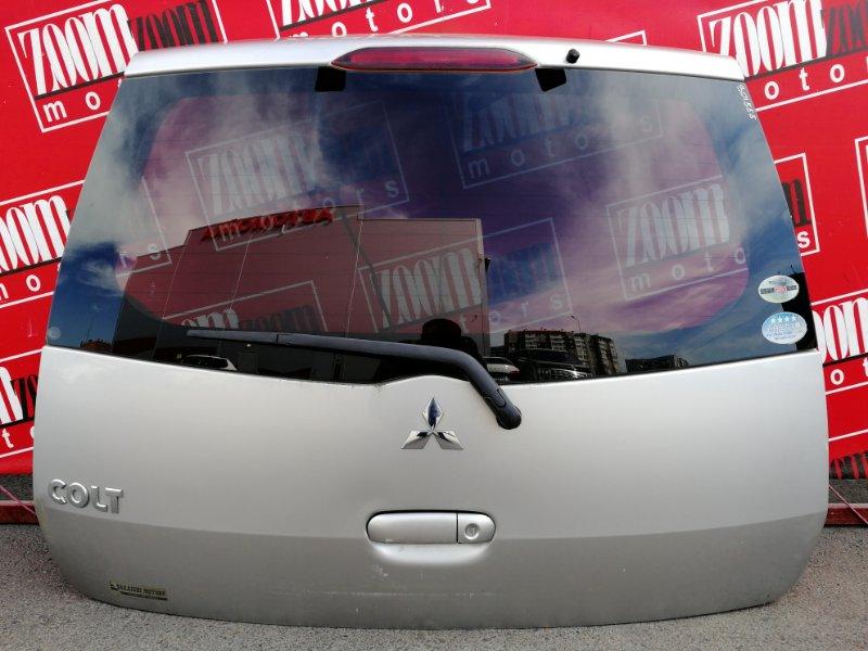 Дверь задняя багажника Mitsubishi Colt Z27A 4G15 2002 задняя серебро